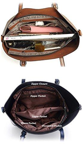 Purse Bag Messenger handle Women Black Satchel Tote Shoulder Jlcorp Handbags Top Zipper zq7FwtwR