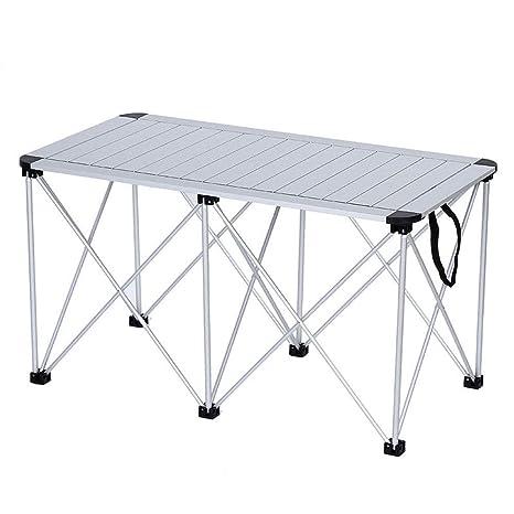 Amazon.com: ZR Mesa de picnic portátil plegable para ...
