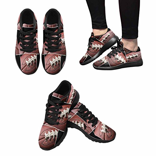 Interestprint Femmes Jogging Running Sneaker Léger Aller Facile Marche Confort Sport Chaussures De Course Football Américain Collage Multi 1