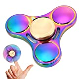 FidgetKool Hand Spinner ,Fidget Spinner Aluminium Tri Spinning Finger Toys Stress Anxiety ADHD Relief Toy