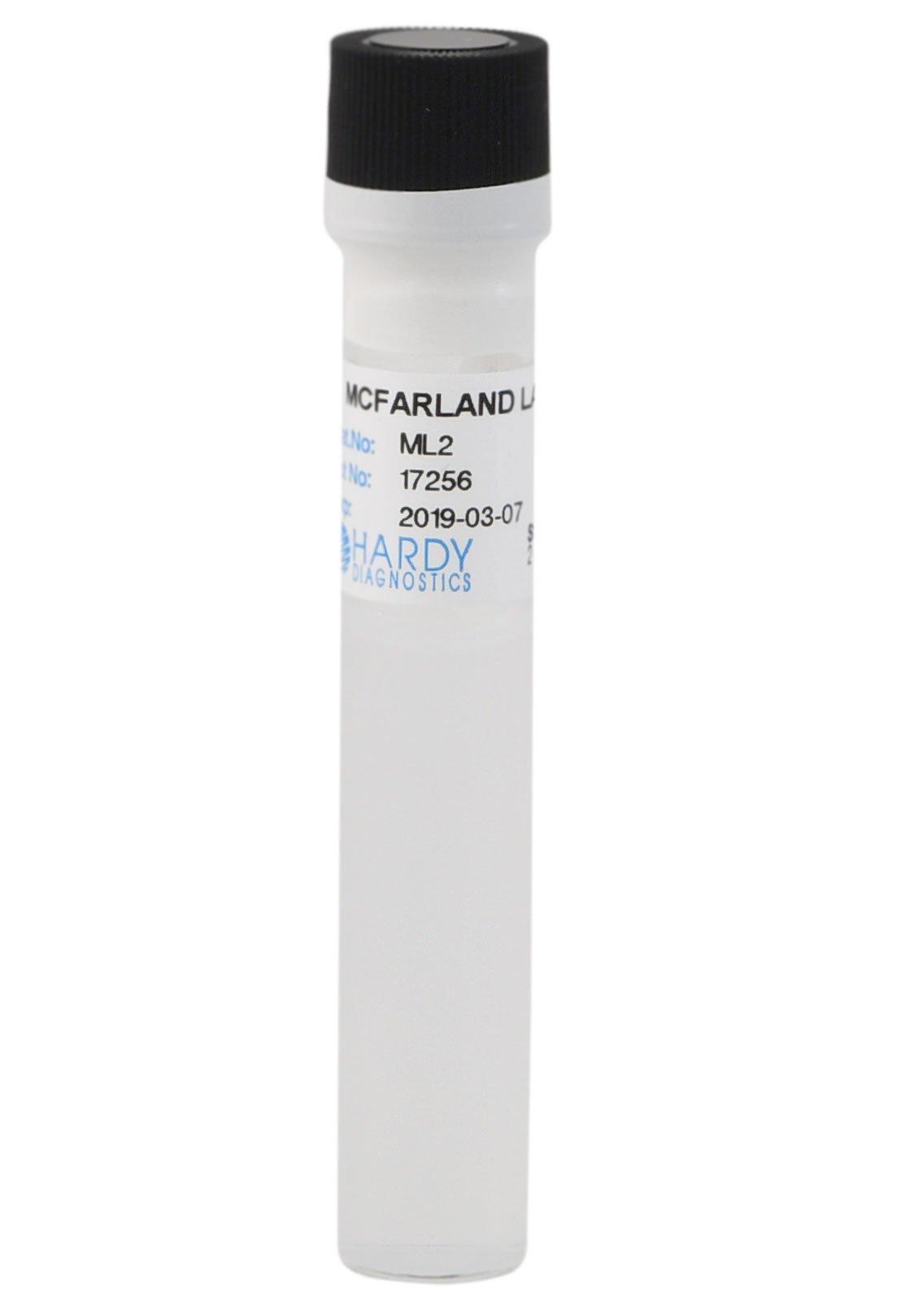 McFarland Standard, Latex Equivalent # 2, 8 Milliliter Fill, 16x100mm Tube, by Hardy Diagnostics