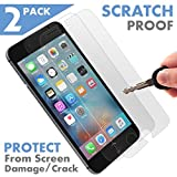 ⚡ [2 Pack - PREMIUM ] Apple iPhone 7 Plus Tempered Glass Screen Protector - Shield, Guard & Protect Phone From Crash & Scratch - Anti Fingerprint, Smudge & Shatter Proof - Best Front Cover Protection