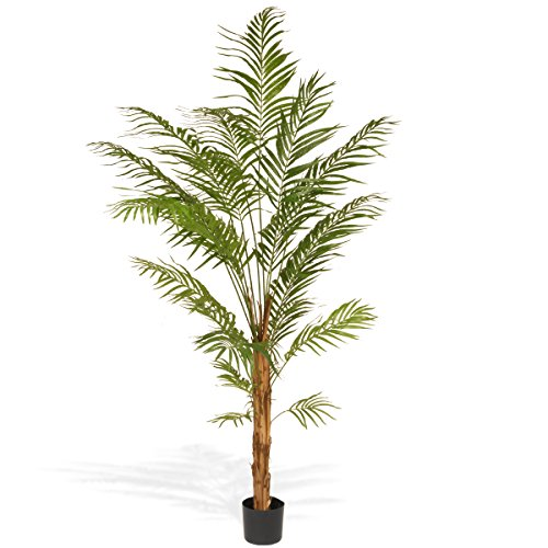 National Tree 7 Foot Deluxe Areca Potted Palm Tree -