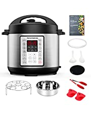 Rozmoz 14-in-1 Electric Pressure Cooker Instant Programmable Pressure Pot, 6 Quart, Stain-Resistant Slow Cooker, Steamer, Saute, Yogurt Maker, Egg Cook, Sterilizer, Warmer, Rice Cooker with 10 Deluxe Accessory kits (Renewed)