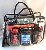 Charlie Clear Handbag Purse Cosmetic Make-Up Tote Travel Bag Organizer Insert Dimensions: L 10