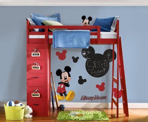 RoomMates RMK1506GM Mickey Mouse Chalkboard Peel and Stick Wall