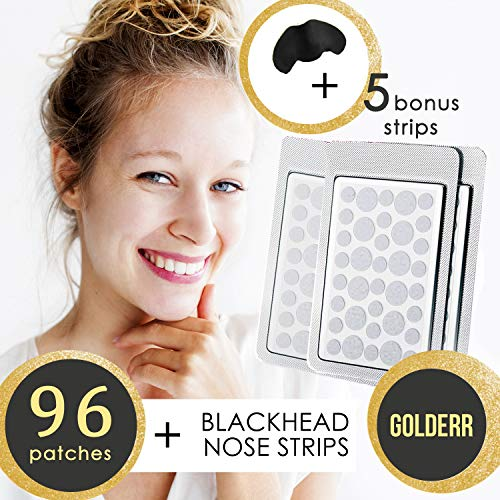 Acne Pimple Master patch Bandages + Nose Pore Strips Blackhead Remover Spot Treatment 96 Acne Dots Blackhead Strips Acne Stickers Face Care Blemish Patches Facial Kit Pimple Sticker Face Products