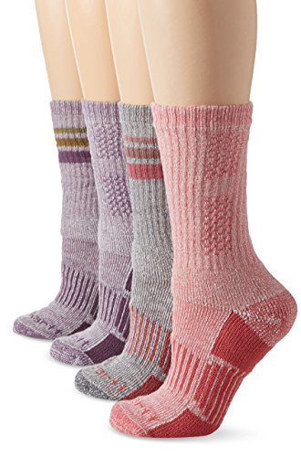 Carhartt Womens 4 Pack All-Season Crew Socks MultiColored 9-11 Sock5.5-11.5 Shoe