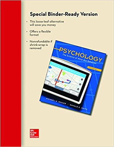 Amazon looseleaf for psychology the science of mind and looseleaf for psychology the science of mind and behavior 5th edition fandeluxe Images