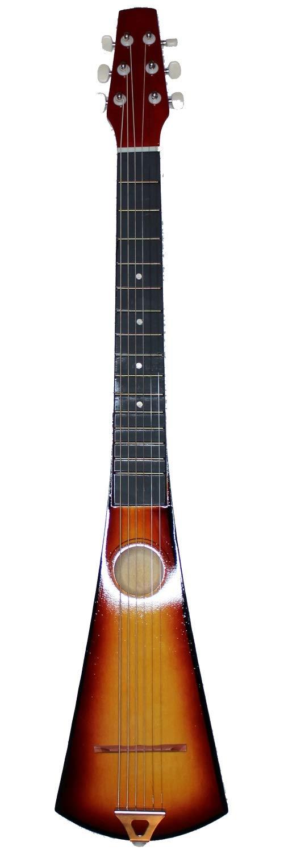 Acoustic Steel String Backpacker Travel Guitar with Bag and Strap Sunburst