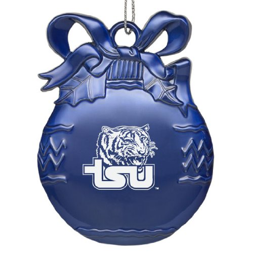 - Tennessee State University - Pewter Christmas Tree Ornament - Blue