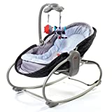 Tiny Love 3-in-1 Bouncer Converts to Crib and Rocker Napper in Black, Features Soothing Vibration