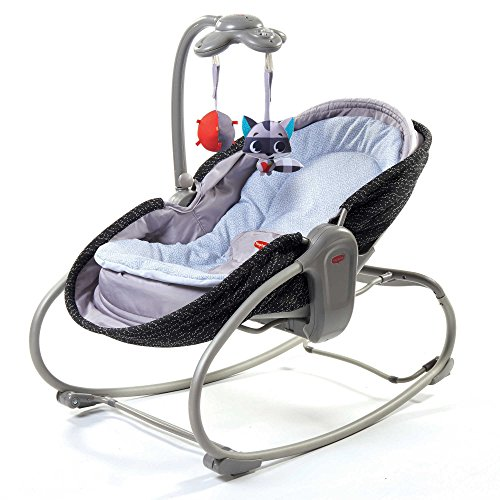 Tiny Love 3-in-1 Bouncer Converts to Crib and Rocker Napper in Black, Features Soothing Vibration by Tiny Love