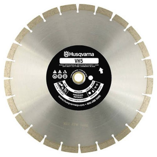 Diamond Edge Saw Blade (Husqvarna Construction Products 542774463 14 Inch by .118 by 1 Drive Pinhole 20mm B VH5 High Speed Diamond Blade)