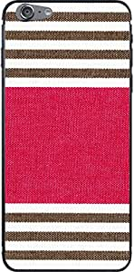 Fabricovers carcasa Folie - Tela - iOs D43 - Apple iPhone 6 Plus - Braun / raya rosa