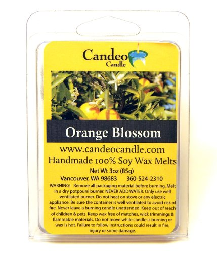 Orange Blossom, Super Scented Soy Melt Cubes, Pack of 2- Use in Tart Warmers, Tea Light Warmers, Oil Warmers or Scentsy Warmers!