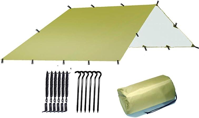 3M * 3M Lona Ultraligera Supervivencia para Acampar Al Aire Libre Sun Shelter Shade Toldo Revestimiento De Plata Pérgola Tienda De Playa Impermeable: Amazon.es: Hogar