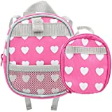 Doll BackPack, Set of 2 Doll Size Back Pack and Lunch Bag Fits American Girl Dolls, My Life Doll, Our Generation and other 18 inches Dolls