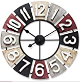 Infinity Instruments Wood Kaleidoscope Wall Clock Multicolor
