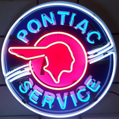 Anaheim Neon Sign - Pontiac Service Neon Sign