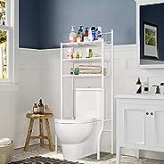 Vlony Toilet Shelf 3-Over The Toilet Storage Cabinet Bathroom Spacesaver Free Standing Iron Tube Bathroom Shel