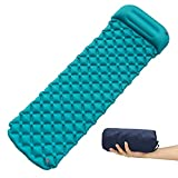 FAMLOVE Ultralight Sleeping Mat with Pillow-Backpacking Camping Pad, Camping Mat Mattress Inflatable Air Mattress Ultralight, Ultra-Compact for Lounging,Sleeping Bags,Hammocks Review
