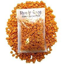 Orange Star Sugar Sprinkles 25g for cake cupcake decorations Stars