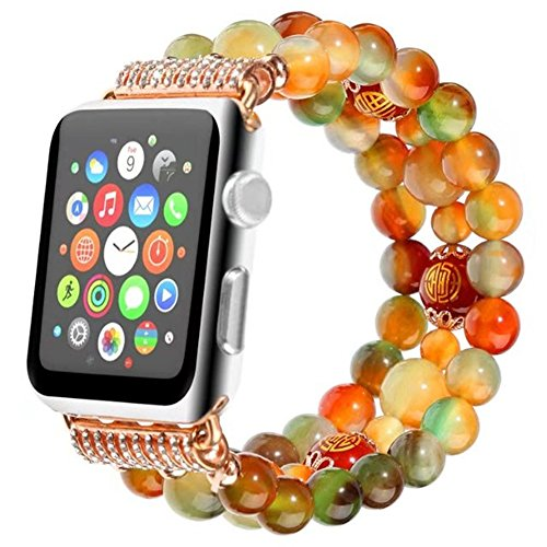 Peacock Agate Crystal Bling Rhinestone Adjustable Straps Apple Watch Accessories Apple Watch Band 38mm Series 2 3 1 Smart Watch...
