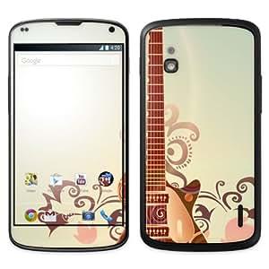 Diabloskinz B0090-0004-0068 Retro Guitar - Vinilo adhesivo para LG Google Nexus 4, diseño retro de guitarra