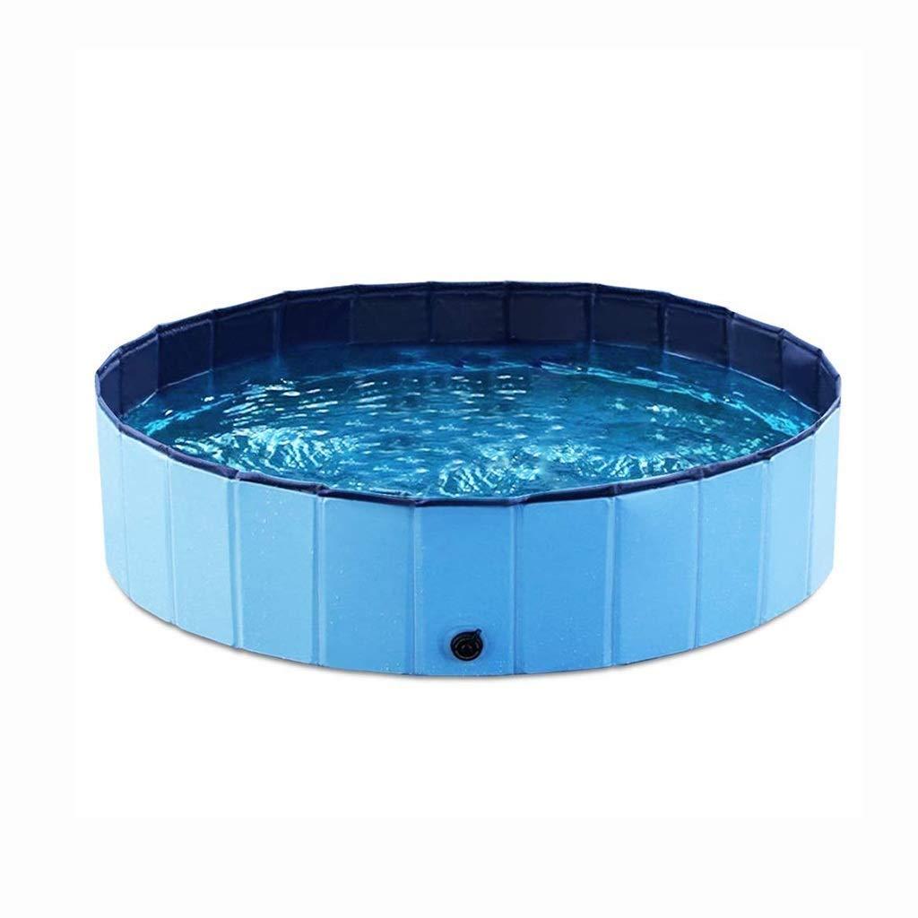 80x20cm Collapsible Pet Pool, Bathtub, Dog Or Cat PVC Bathtub, bluee, Easy to Clean, Portable Kids Toys, 80   120CM (Size   80x20cm)