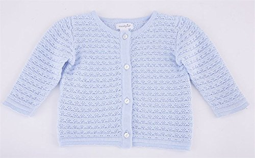 Mud Pie Baby Boys Layette Long Sleeve Cable Cardigan, Blue, 0-6 Months (Babyboy Pie Mud)
