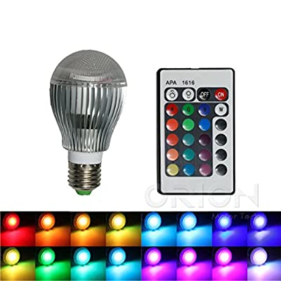 CO-Z Bright 16-color Changing 9W E27 RGB LED Light Bulbs with Remote Control 100-240V AC for Holiday Chirsitmas Party