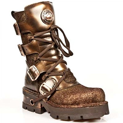New Rock Boots M.373-c44 Gotico Hardrock Punk Unisex Stiefel Kupfer