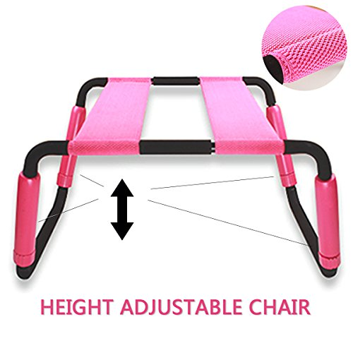 Jkom Multifunction Sex Loving Chair,Adjustable Sex Chair Furniture for Couples and Elastic for Erotic Tool (Pink)