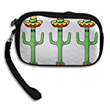 Cactus Wearing Hats Comfortable Coin Purse Storage Package Wallet Zipper Mini Wallet