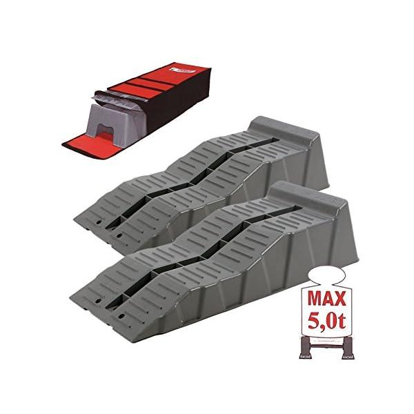51TslIRP%2BNL Fiamma Jumbo Stufenkeile, Auffahr-Keil 2er Set - bis 5000 kg, 58 x 6/11 x 14 cm für Wohnwagen oder Wohnmobil