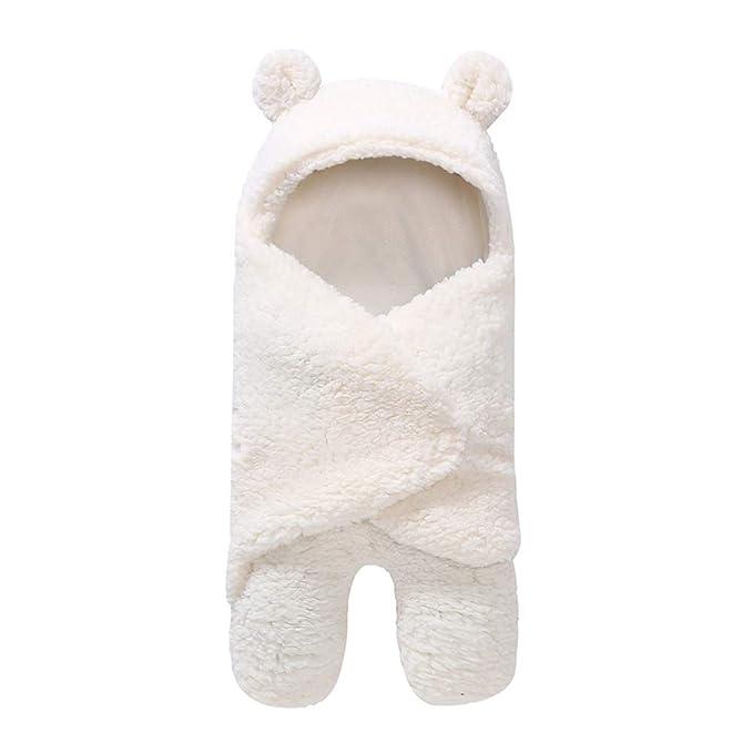 Qiao Nai Saco de Dormir para Bebés Suave y Cálido de Invierno Sacos para Dormir Niña y Niño Manta para Bebé Recién Nacido 0 a 12 Meses (Blanco): Amazon.es: ...
