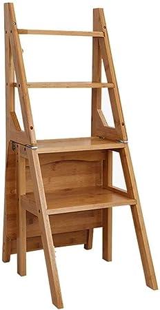 TZ-DZC Taburete Escalera Doble Escalera Plegable Silla Escalera Multifunción Taburete Floral Estantería de 4 Capas Silla de Comedor Bamboo (Color : C): Amazon.es: Hogar