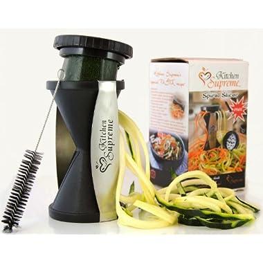 Spiral Slicer Spiralizer Complete Bundle - Best Vegetable Cutter - Zucchini Pasta Noodle Spaghetti Maker
