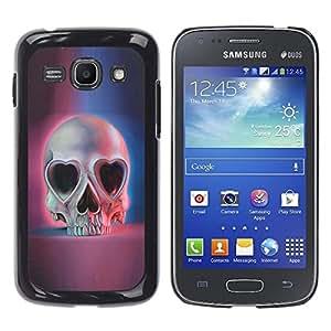 Ihec Tech Amor del cráneo Corazones Ojos Azul Rosa Muerte / Funda Case back Cover guard / for Samsung Galaxy Ace 3