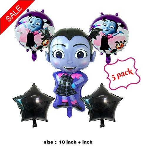 Vampirina Balloons Birthday party supplies 5 pack, decoration Halloween, Disney Princess Girl, USA Seller. by Shoppinesonline