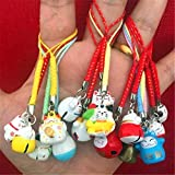 EatingBiting(R)15pcs Random Maneki Neko Fortune Lucky Japanese Beckoning Cat Keyring Keychain Key Rings, Fengshui…