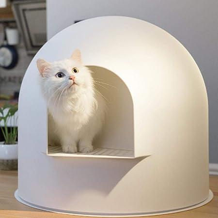 Coseyil Cajas de Arena Caja de Arena para Gatos Completamente Cerrada en Forma de Inodoro Extra Grande de Snow House: Amazon.es: Hogar