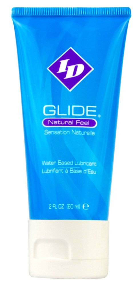 ID Glide 2 FL OZ Natural Feel Water Based Personal Lubricant Travel Tube