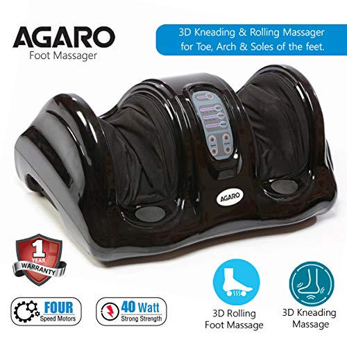 Agaro Relaxing Foot Massager for Pain Relief with Kneading,...