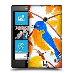Head Case Designs Eastern Bluebird Autumn Birds Hard Back Case for Nokia Lumia 730 / 735