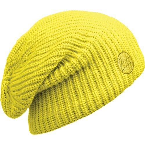 Buff Knitted & Polar Slouchy Hat Drip Yellow fluor