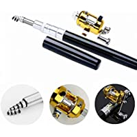 Ouguan Pocket Size Pen Shaped Collapsible Fishing Rod...