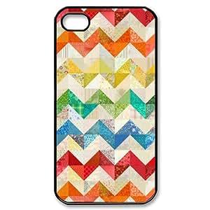 Diystore Custom New Style Colorful Chevron Pattern Cover Hard Plastic iPhone 6 4.7 Case