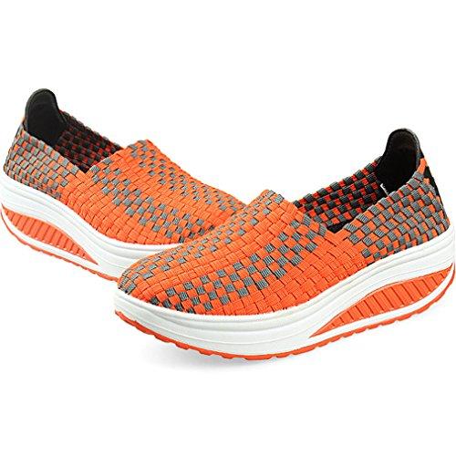 para Solshine Zapatillas Orange3 mujer Lona de z661WC
